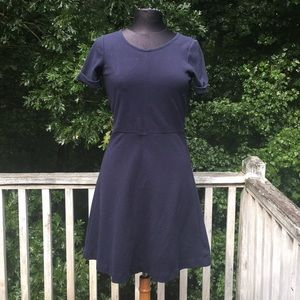 JCrew fit and flare ribbed dress
